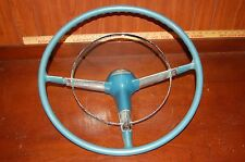 1955 Chevy Steering Wheel With Horn Ring Blue Vintage Antique Original Part