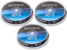 30 Sony Blu-ray BD-R 25Gb 1-6x Spindel Rohlinge Sony gelabelt