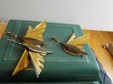 """MELT GEESE TWO  AND ONE  ART WALL HANGING SEE NO NAME SIZE IS 11"""" AND 7 & 6"""""""