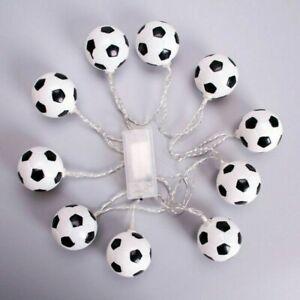 10LED Football Fairy String Light Boy Battery Bedroom Decor Light Lamp#QX