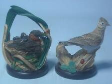 2x Eaglemoss SKYLARK & LITTLE GREBE Figurine Country Bird Collection Andy Pearce