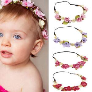 Baby Hair Wreath Wedding Party Flower Crown Kids Hairband Hair Accessories F-