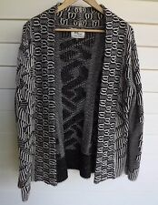 Cotton On Women's Black & White Knit Long-Sleeve Cardigan - Size M