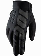 100% Briskser Cold Weather Gloves MTB Bicycle Bike Cycle Cycling Black Large