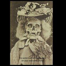 Scary Vintage Skeleton Freak PHOTO Freaky Skull Demon Creepy Devil