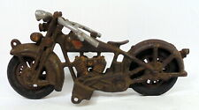 Antique Hubley Cast Iron Harley Davidson Motorcycle Toy