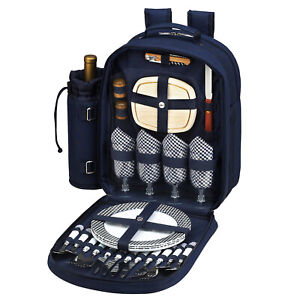 Picnic at Ascot Thermal Shield Picnic Backpack with Service for 4 (081)
