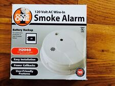 Code One Hard Wire 120-Volt Smoke Detector w/ Battery Backup - A01