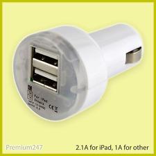 Universal DUAL USB 3.1 Amp iPad Car Charger 12V Lighter Socket Adapter Plug