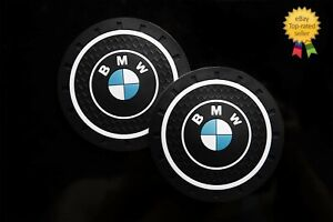 BMW m Car Vehicle Water Cup holder inserts Non slip car style accessories x2