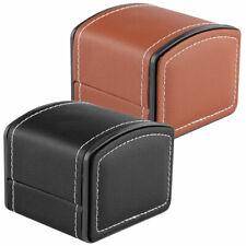 PU Leather Watch Box for Men Watch Organizer Jewelry Display Case Black/Brown