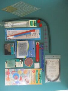 Lot of Quilting Sewing Notions New Used Starter Kit YoYo Tool Template Bias Bars