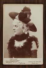 Julia Depoix Actrice Théâtre Photo Cabinet card Van Bosch Paris