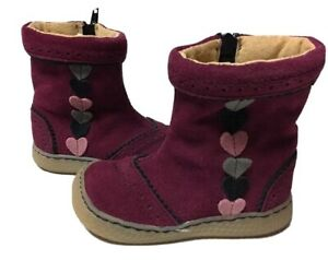 LN Livie & Luca Shoes Boots Maeve Burgundy Suede Leather HTF! 6