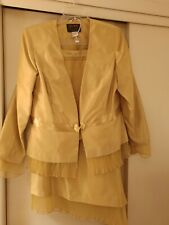 Womens Asymmetrical Gold Suit - Size 12 by Ashro
