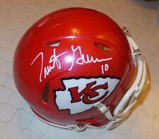 TRENT GREEN Chiefs Autographed Mini Helmet including BDS COA #3175