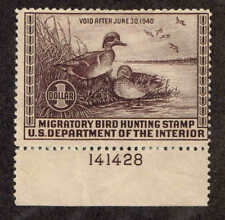 RW 6  US Fed Duck Stamp Migratory Bird Hunting License 1939.  MH