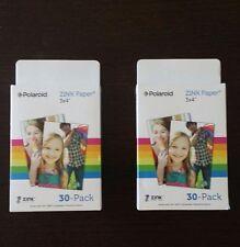 "2 packs Zink Paper 3x4"" 60 films"