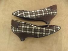 Vtg New NOS D. Myers JJ Girl Brown Show Time Wedge Cone Heel Slip On Shoes 9.5W