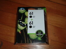 HP 61 BLACK INK TWIN PACK CARTRIDGES~ BRAND NEW~ CZ073FN~ FACTORY SEALED~