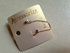 1 x Accessorize ear cuff earring diamante gold NEW