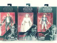 "Star Wars Black Series Senior Citizen Leia Luke Han 6"" Figures lot Force Awakens"