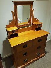 Australian antique silky oak dressing table