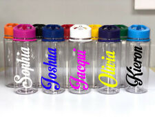 Personalised Custom Children's Kids Water Drink Bottle motion Name Gym 550ml