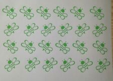 1 Sheet Bumble Bee Vinyl Sticker Decal Window Car Van Craft 1.5inch Apple Green