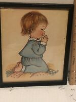 Eva Harta Praying Child Nursery Art Vintage