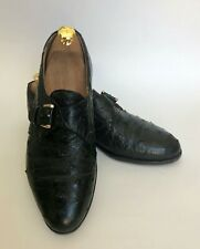 Avventura Mens Ostrich Skin Leather Size 9 Monk Strap Made In Spain
