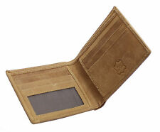 Mens Gents Wallet Soft Real Cowhide Leather Canvas Premium Quality wallets 1214