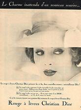 PUBLICITE ADVERTISING  1959   CHRISTIAN DIOR  cosmétiques des lèvres