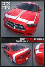 Dodge Charger Racing Hood, Roof & Rear Stripes 2011 2012 2013 Decals Pro Motor