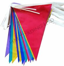 20 Flags Multi Colour Bunting Banner Flags Pennant Party Decoration In / Outdoor