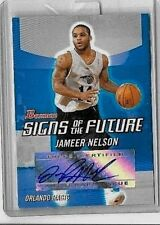 JAMEER NELSON '04-05 BOWMAN SIGNS OF THE FUTURE CERTIFIED AUTOGRAPH & RC JERSEY