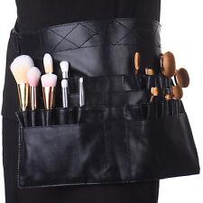 PU Leather Makeup Cosmetic Pouch Case Waist Shoulder Belt Bag For Brush Kit Set