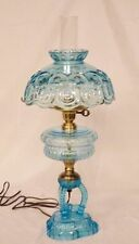 "Ver Rare Fenton 24"" Blue Moon & Star  Lamp -FREE SHIPPING WITH BIN -GTC"