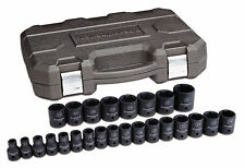 "KDT 84933N 1/2"" Dr 25pc 6PT Metric Impact Socket Set SHORT 8MM-36MM BRAND NEW"
