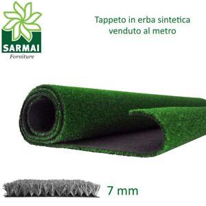Prato sintetico 7 mm erba finta artificiale calpestabile tappeto verde atossica