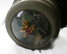 40s Metal Round Vanity Powder Music Trinket Box Flowers Sankyo Ahoha Oe