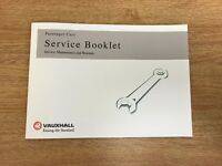 GENUINE-VAUXHALL-SERVICE-HISTORY-BOOK-FOR-PETROL-AND-DIESEL NOT DUPLICATE/OEM+