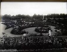 3 BELLES PHOTOS ANCIENNES architecture jardin 1900 début XXè ROSERAIE STATUES