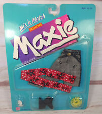"""1987 Hasbro Maxie Mix N Match Fashions Jeans Red Scarf 11.5"""" Doll Clothing Vtg"""