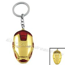 The Avengers IRON MAN Tony Stark Ironman Mask 6cm Metal Key Ring Chain