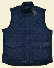 New Medium M POLO RALPH LAUREN Mens diamond quilted vest Navy Blue coat Gilet