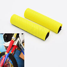 Front Upper Fork Rubber Cover Boots for Suzuki RM RMZ DR Z 125 250 450 Yellow
