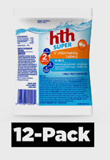 """New listing 12~ Hth Super 4-in-1 3"""" Chlorinating Tablets Pool Chemicals Feeder Floater 42008"""