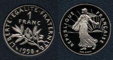 France : Magnifique 1 Franc 1998 Semeuse BE FDC du Coffret Top Qualité Rare