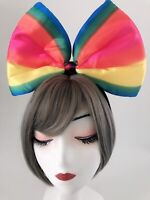 Women Girl Rainbow colorful middle BIG Bow Party Hair Head Band Headband Crown